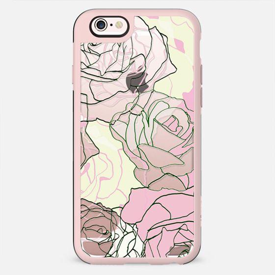 Pastel line rose petals minimal transparent