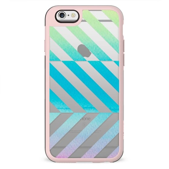 Watercolor stripes clear case dynamic