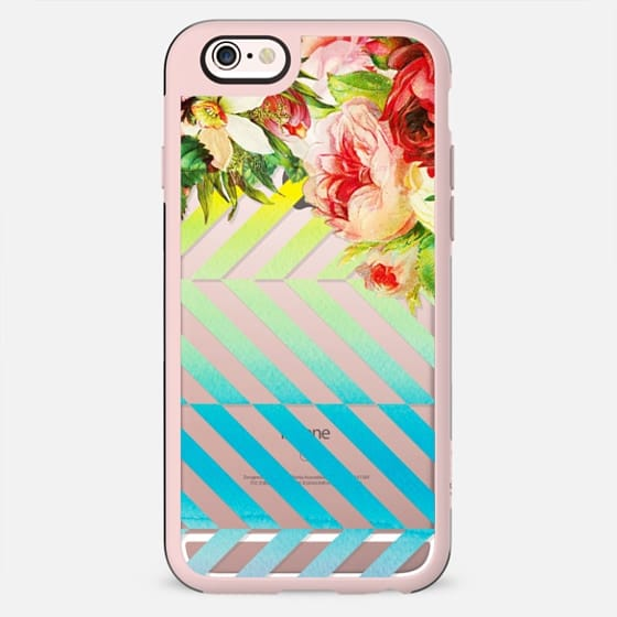 Vintage flowers and watercolor stripes - New Standard Case