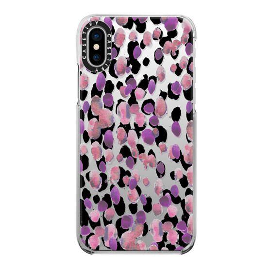 iPhone 7 Plus Cases - Pink black painted splattered spots
