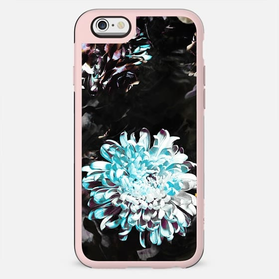 white blue flower - New Standard Case