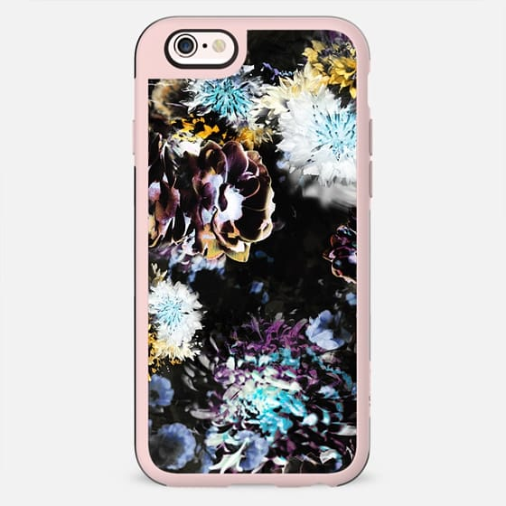 Dark blurry flowers print - New Standard Case