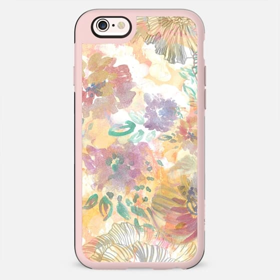 pastel Painted watercolor flower petals - New Standard Case