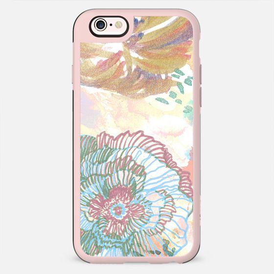 Painted watercolor flower doodles - New Standard Case