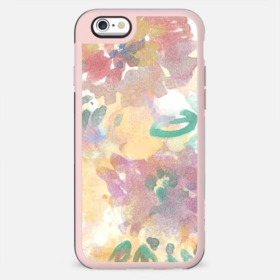 Pastel Painted watercolor flower doodles - New Standard Case