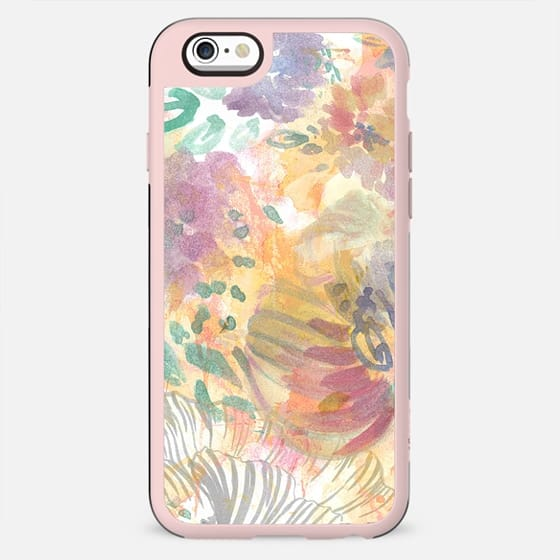 Painted watercolor flower petals doodles