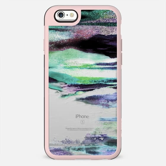 Painted abstract mountain landscape stripes clear - New Standard Case