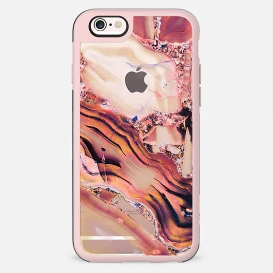Pink golden transparent precious stone marble - New Standard Case