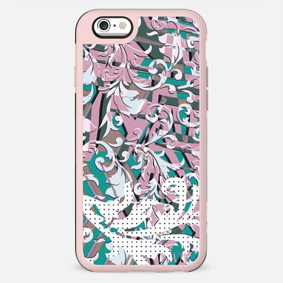 Dots and pastel green pink foliage pop art - New Standard Case