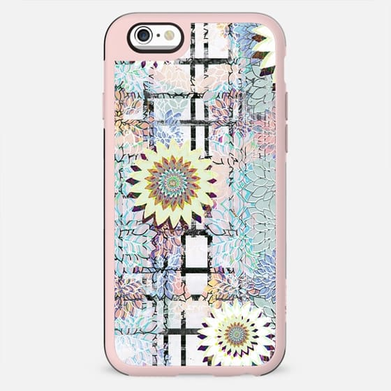 delicate pastel flowers and brushed tartan - New Standard Case