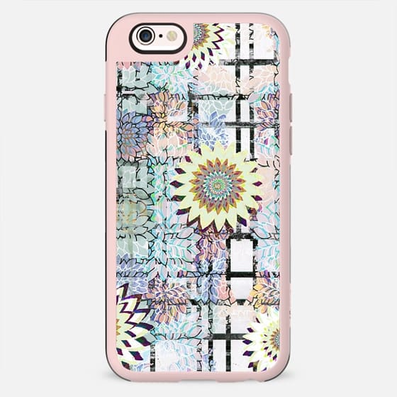 Pastel flowers drawing and brushed tartan - New Standard Case