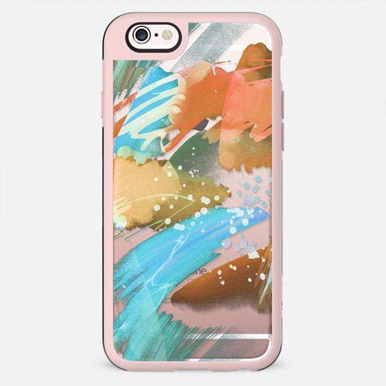 Watercolor brushstrokes clear case
