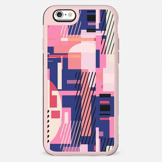 Colorful geometric stripes and rectangles composition - New Standard Case