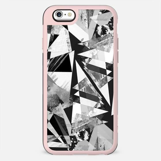 Geometric triangles textured graffitti clear case - New Standard Case