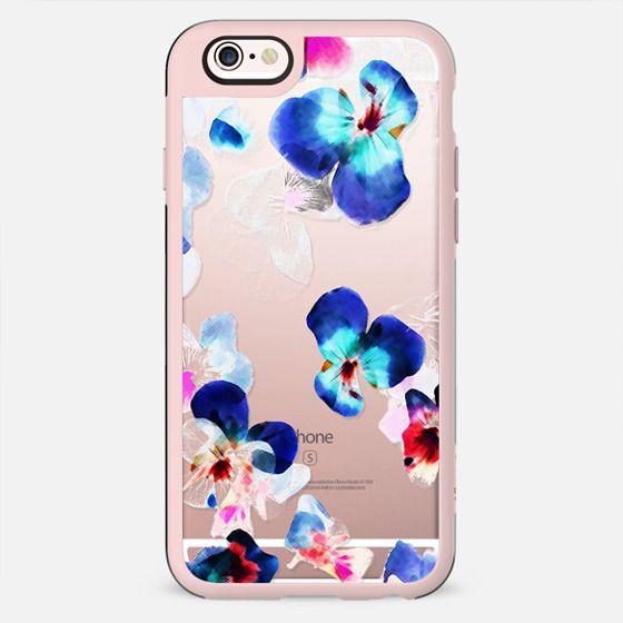 Transparent blue pink pansy petals blur - New Standard Case