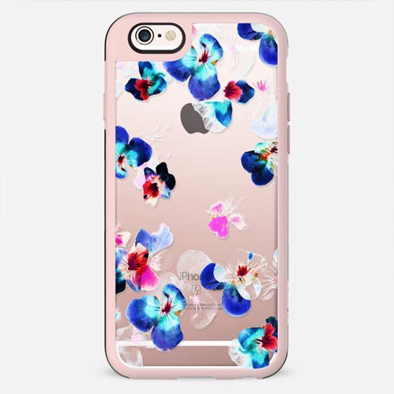Romantic Transparent blue pink pansy petals - New Standard Case