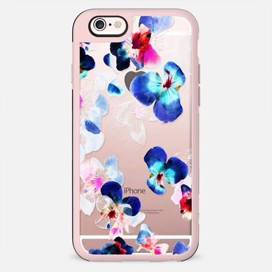 Transparent blue pink pansy petals 2 - New Standard Case