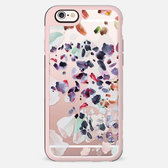 Pastel watercolor pebble stones clear - New Standard Case