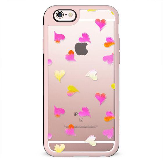 Pink yellow hearts
