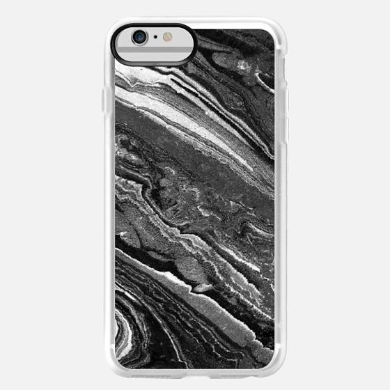 iPhone 6 Plus Case - Monochrome marble lines