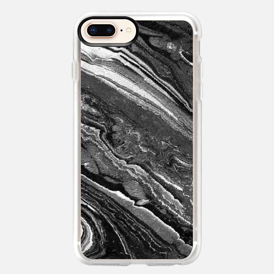 iPhone 8 Plus Case - Monochrome marble lines