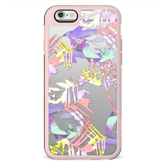 Colourful watercolor flowers - clear case