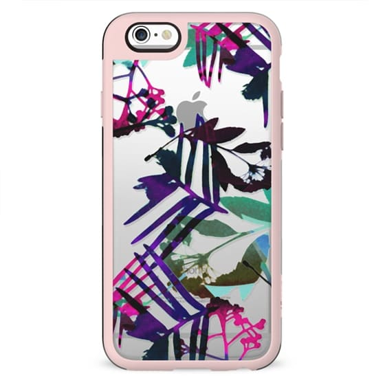 Watercolor botanical clear case II