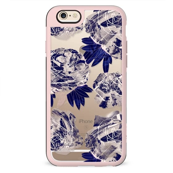 Painted roses - clear case