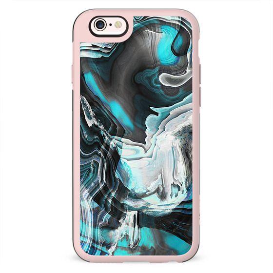 Dark blue liquid marble