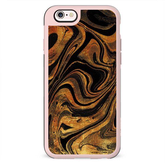 Golden black marble texture