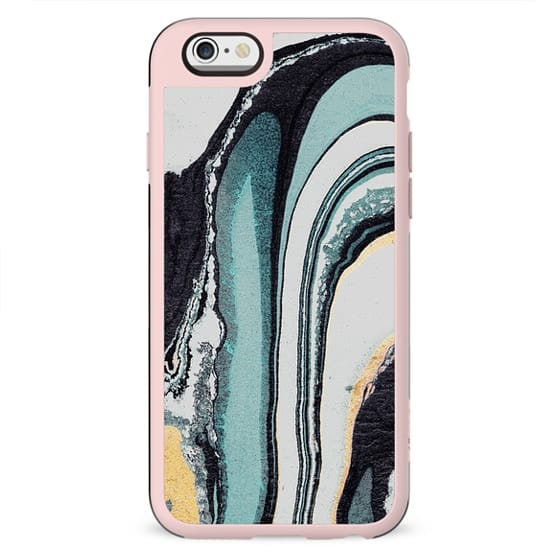 Liquid turquoise marble