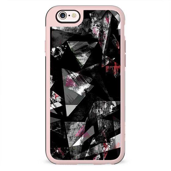 Grunge  dark sprayed triangles