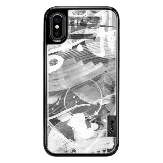 iPhone 6s Cases - Black and white ink abstract