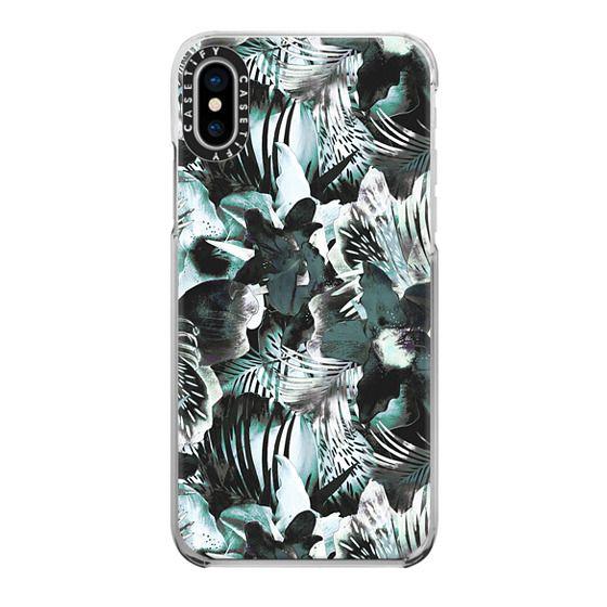 iPhone 7 Plus Cases - Dark green exotic foliage