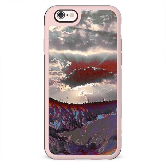 Abstract purple sunset landscape