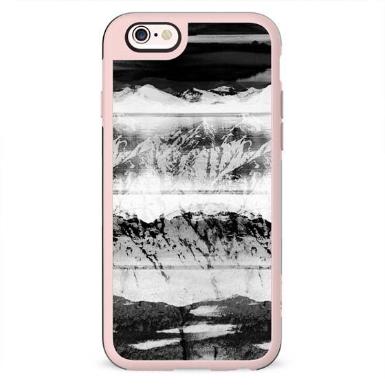 Mountain snow monochrome landscape