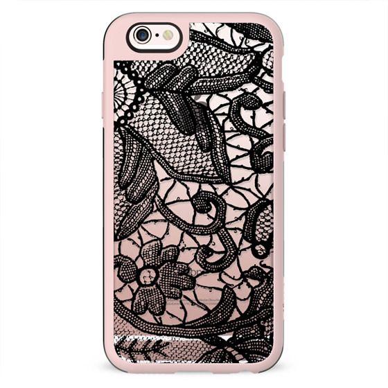 Black elegant lace design