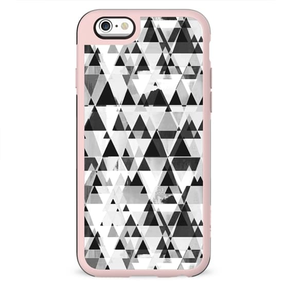 Monochrome triangles pattern on white