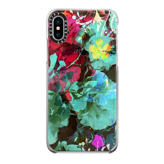 iPhone 6s Cases - Psychedelic turquoise floral print