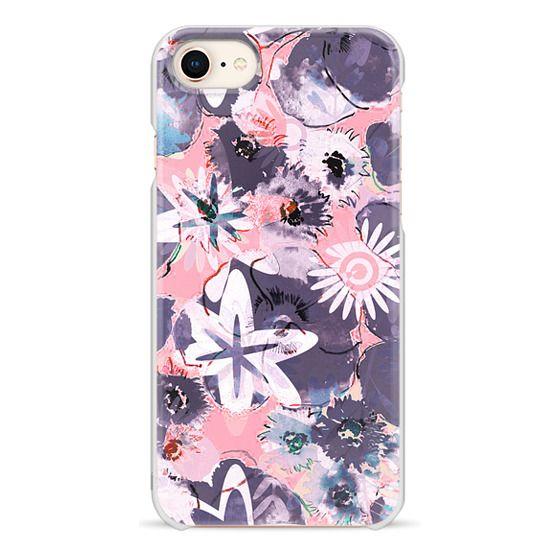 iPhone 6s Cases - Pastel pink purple watercolor flowers