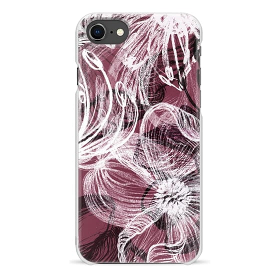iPhone 7 Plus Cases - White chalk petals drawing