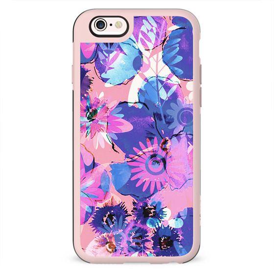 Pink - purple watercolor flowers