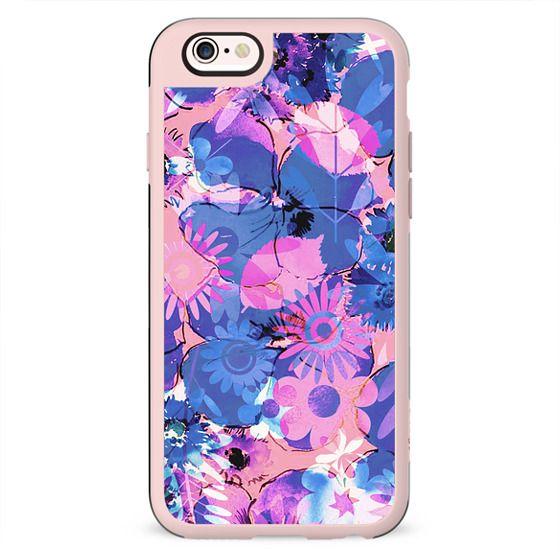 Pink purple watercolor floral petals