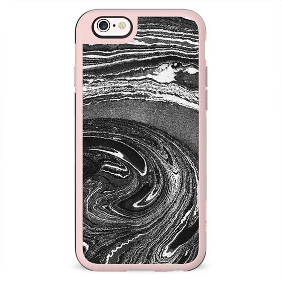 Black and white marble swirls