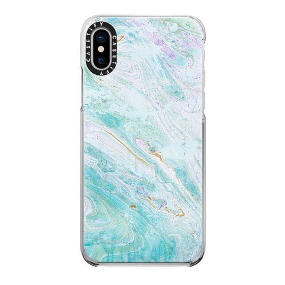 iPhone 7 Plus Cases - blue elegant marble