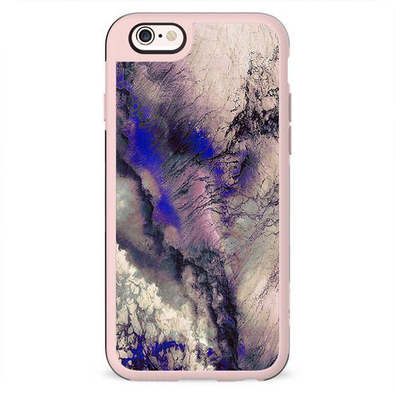 Purple cracked marble