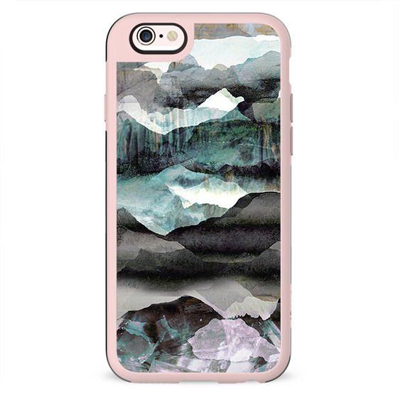 Painted mountain landscape