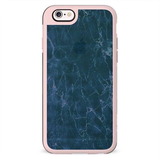 Transparent pastel blue marble cracks