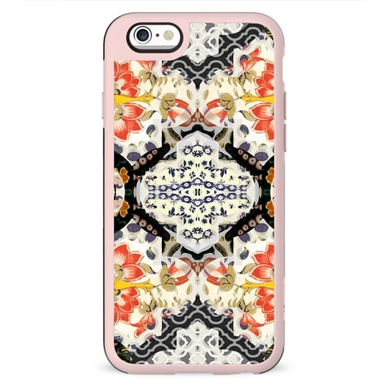 asian floral patchwork design