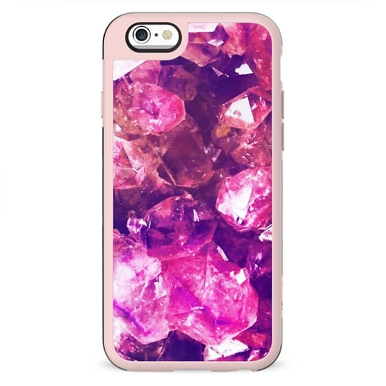 Pink crystal precious stone